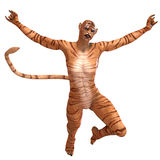 Female Fantasy Figure Tiger Stock Image