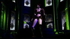 Female Fantasy Warrior stock video