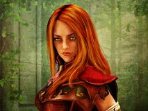 Female fantasy warrior's portrait Royalty Free Stock Image