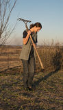 Female farmer  with spade Stock Photography