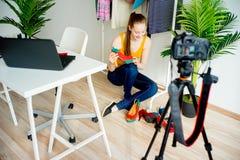 Female fashion blogger Stock Photography