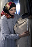 Female Fashion Designer Wearing Hijab stock images