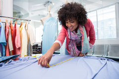 Female fashion designer at work Stock Images