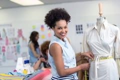 Female fashion designer at work Royalty Free Stock Image
