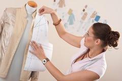 Female fashion designer working Royalty Free Stock Photos