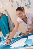 Female fashion designer working at studio Stock Photo