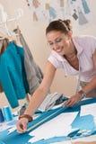Female fashion designer working at studio Stock Photo