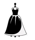 Female fashion dress isolated icon design Stock Photography