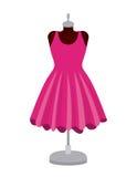 Female fashion dress isolated icon design Stock Photos