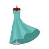 Female fashion dress isolated icon design Royalty Free Stock Photos