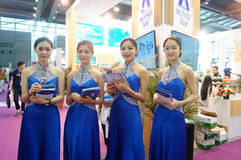 Female fashion models show. At the Shenzhen Convention Center, 2015 China (Shenzhen) international brand underwear exhibition Royalty Free Stock Photos