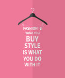 Female  fashion stylized dress from quote Stock Image