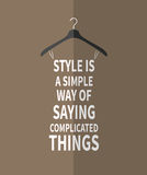 Female fashion stylized dress from quotes Royalty Free Stock Photo