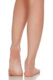 Female feet. Isolated on white background royalty free stock photos