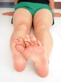 Female feet. Body close up Stock Image