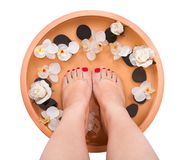Female Feet Getting Aroma Therapy Royalty Free Stock Photo