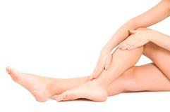 Female feet isolated on white Royalty Free Stock Photos