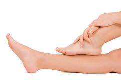 Female feet isolated on white Royalty Free Stock Image