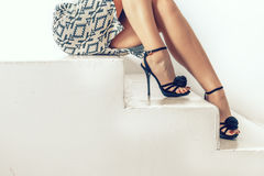Female feet. Royalty Free Stock Images