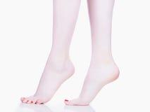 Female feet.salon spa pedicure Royalty Free Stock Photo