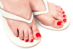 Female feet in sandals Royalty Free Stock Photography