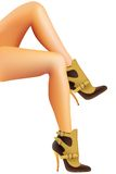 Female feet in shoes. Royalty Free Stock Photography