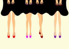 Female feet in shoes  illustration Royalty Free Stock Photos
