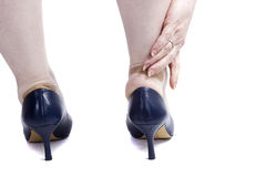 Female feet in shoes Stock Image