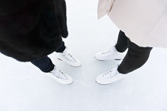 Female feet in skates Royalty Free Stock Image