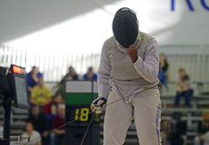 Female Fencer Win Reaction Royalty Free Stock Photo