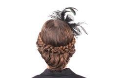 Female festive hairstyle. Royalty Free Stock Photos