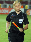 Female FIFA footbal referee Stock Image