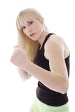 Female in fight mode Stock Photos