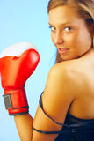 Female fighter Royalty Free Stock Photos