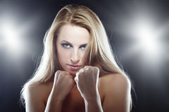 Female fighter Stock Images