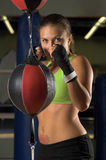 Female Fighter Training Royalty Free Stock Image