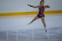 Female Figure Skater performs Chicks Ladies Free Skating Program at Minsk Arena Cup Royalty Free Stock Photos