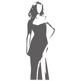 Female figure vector illustration Stock Photos