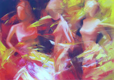 Female figures handmade painting. Female figures handmade oil painting on canvas Royalty Free Stock Image