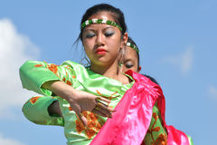 Female Filipino Dancers. Royalty Free Stock Image