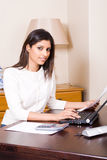 Female financial secretary Royalty Free Stock Photos