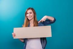 Female finger banner Stock Photography