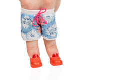 Female finger in shorts and boots Stock Images