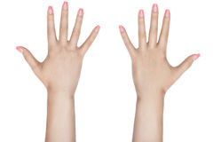 Female fingers with manicure. Royalty Free Stock Photo