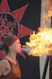 Female Fire-Breather Stock Image