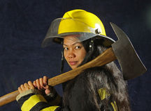 Female Firefighter royalty free stock image