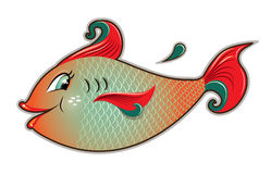Female fish cartoon Stock Images