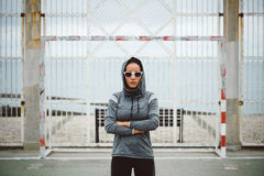Female fitness athlete motivation Royalty Free Stock Photo