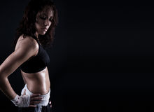 Female fitness body Royalty Free Stock Photos