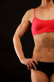 Female fitness bodybuilder Royalty Free Stock Image